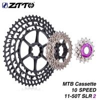MTB 10 Speed 11 50T SLR2 UltraLight Cassette 10s 50T Freewheel CNC 454% Ratio Mountain Bike Bicycle Parts for m6000 Ultralight