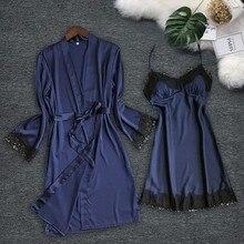 robe set sexy women s robe gown sets twinest bathrobe mini night dress two pieces sleepwear