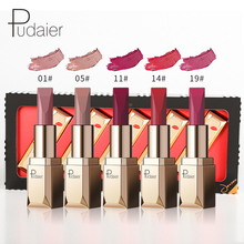 Puddell dark red matte lipstick makeup lasting waterproof professional makeup smooth velvet matte lipstick set cosmetics цена