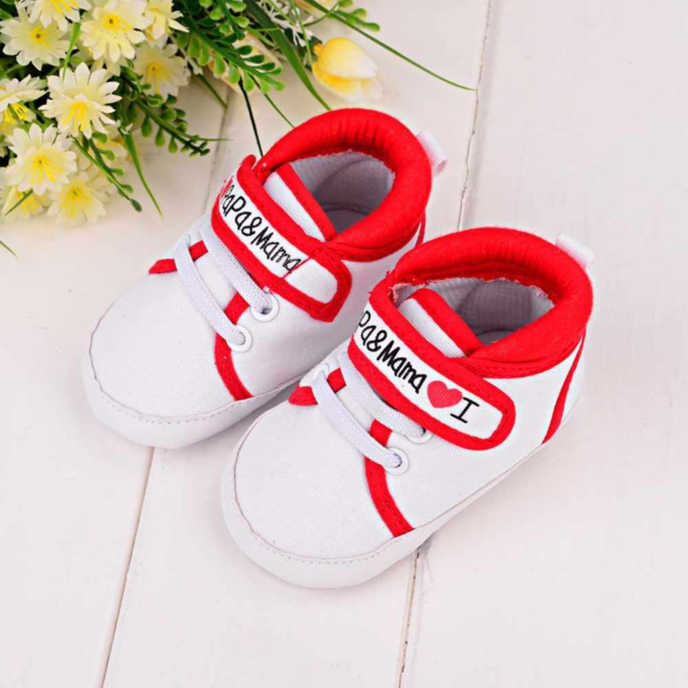 Bebé chico chica suave suela zapatillas de lona zapatos de niño Zapatos bebé niño recién nacido zapatos de bebé niña regalo