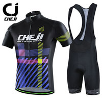 CHEJI Mens Cycling Clothing Pro Team Breathable Quick Dry Bike Jersey China Cheap Cycling Wear Short