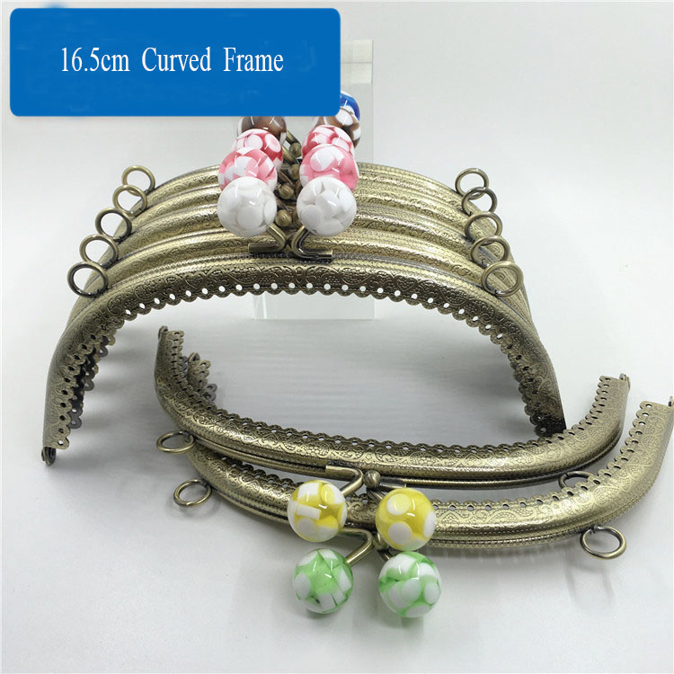 16.5 cm Curved embossed lace jelly candy head Purse Frame,Chose Your Head colors