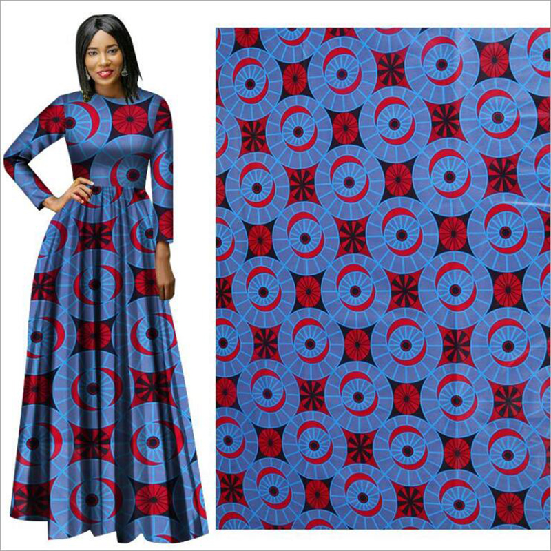 Me-dusa 2019 new folk-custom African Print Wax Fabric 100% cotton Hollandais Wax Dress Suit cloth 6yards/pcs High quility(China)