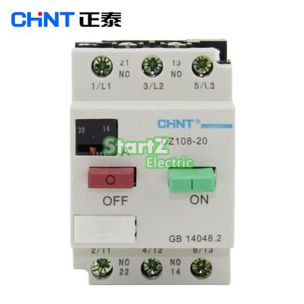 CHNT DZ108-20/211 10A (6.3-10A) Motor protection Motor switch Circuit breaker 3VE1 3ve4 motor protection circuit breaker 3p 1 63amps