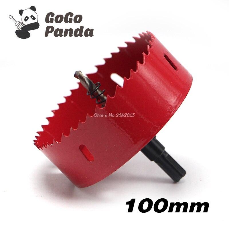 цена на Free Shipping 100mm 3.94 Bi-Metal Wood Hole Saws Bit for Woodworking DIY Wood Cutter Drill Bit