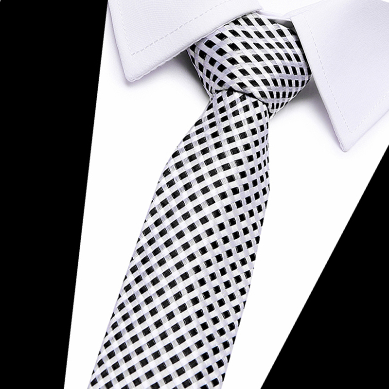 Luxury Mens Tie 8CM Color Black plaid Silk Neckwear Jacquard Woven Neck Ties For Men Formal Business Wedding Party Necktie plaid