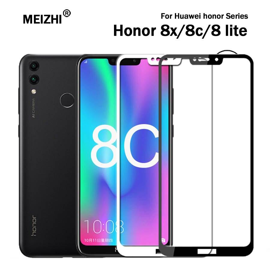 Protective Glass honor 8c 8 lite screen protector on the for huawei 8x 8lite c8 c light tempered glas light honer hono huavei x8