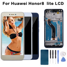 "5.2"" Original Display For HUAWEI Honor 8 Lite Display Touch Screen with Frame for Huawei Honor 8 Lite LCD PRA-TL10 Sensor(China)"