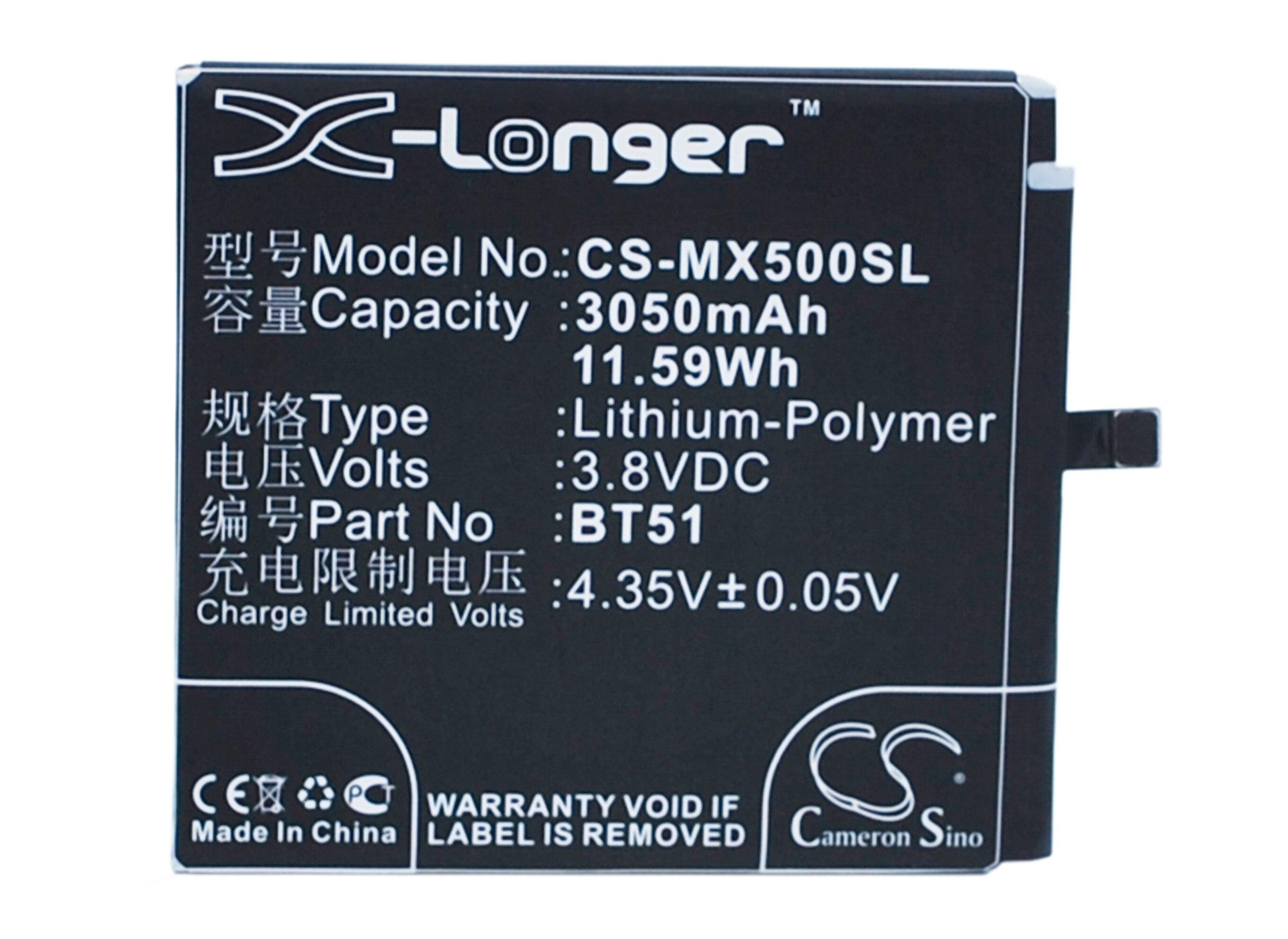 Кэмерон китайско высокое качество 3050 мАч Батарея BT51 для <font><b>MeiZu</b></font> M575 Dual SIM, M575M, M575U, <font><b>MX5</b></font>, <font><b>MX5</b></font> Dual SIM