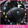 Ladycrystal 15 Inch Hot Lips PU Leather Car Steering Wheel Cover Cute Pattern Car Steering Wheel Covers