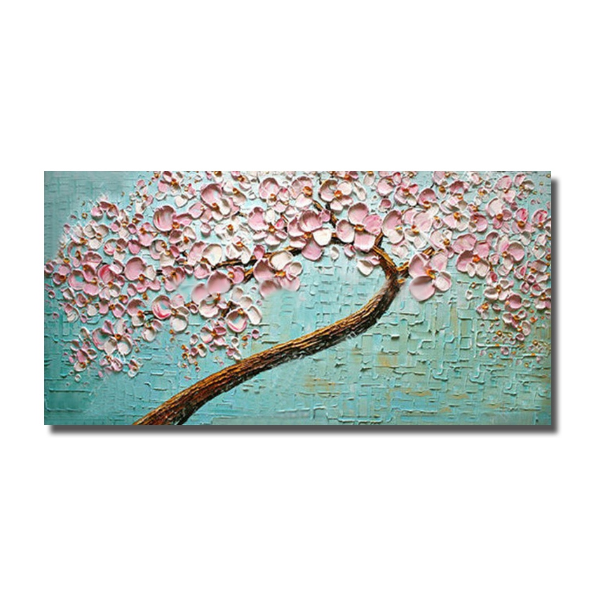 cheap modern hand painted beautiful flower oil painting on canvas modern home decoration wall pictures no framed big size art