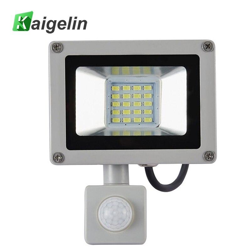 20W PIR <font><b>Motion</b></font> Sensor <font><b>LED</b></font> Flood Light AC 220V-240V 20 <font><b>LED</b></font> SMD 5730 2200LM Reflector <font><b>LED</b></font> Lamp Floodlight For Outdoor Lighting