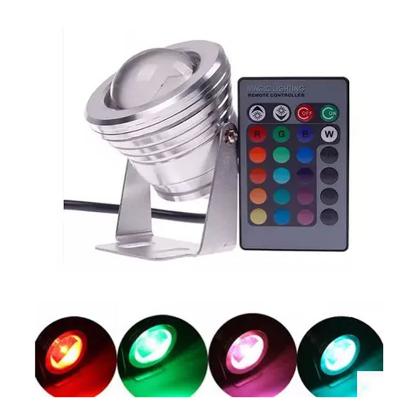SPLEVISI Dimmer RGB 10 Watt 12 V Led Spot Licht Wasserdicht IP65 Spot Led  Lampe Birne Licht Für Indoor Outdoor Beleuchtung