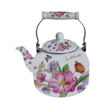 5L  Large Capacity Carbon Steel Enamel Kettle Ceramic Handle Tea Pot with Induction Bottom