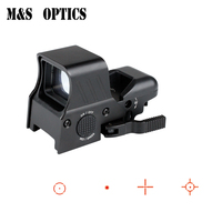 Reflex 1x22x33 Updated Big Red Dot Sight With Quick Detach Mount Scope Optics