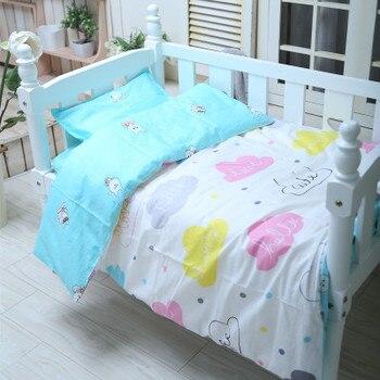 С наполнением! Детский комплект постельного белья, детская кроватка, Комплект постельного белья для девочек и мальчиков, простыня для крова...