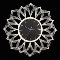 Роскошные Металлические настенные часы современный Дизайн Гостиная украшения акриловые большие часы гладить Книги по искусству настенные