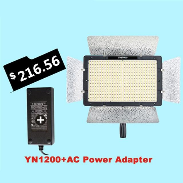 Ulanzi YONGNUO YN1200 +AC Power Adapter Photographic Lighting Video Fill  Light W/ 2Pcs CT
