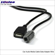 Liislee Original Plugs To USB Adapter Conector For Subaru Forester Car CD Radio Audio Media Cable Data Wire