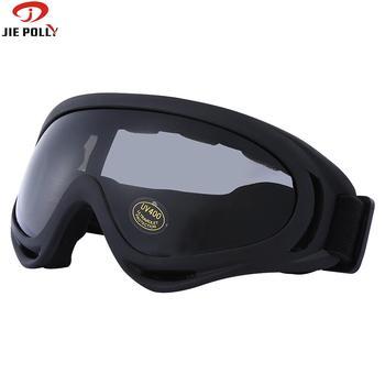 Jiepolly okulary motocyklowe MX maska gogle jazda na rowerze rower górski okulary przeciwsłoneczne do jazdy wiatroszczelna odporna na kurz 5 kolorów do opinii tanie i dobre opinie Skiing Black 18cm Octan MULTI fj01 Poliwęglan UV400