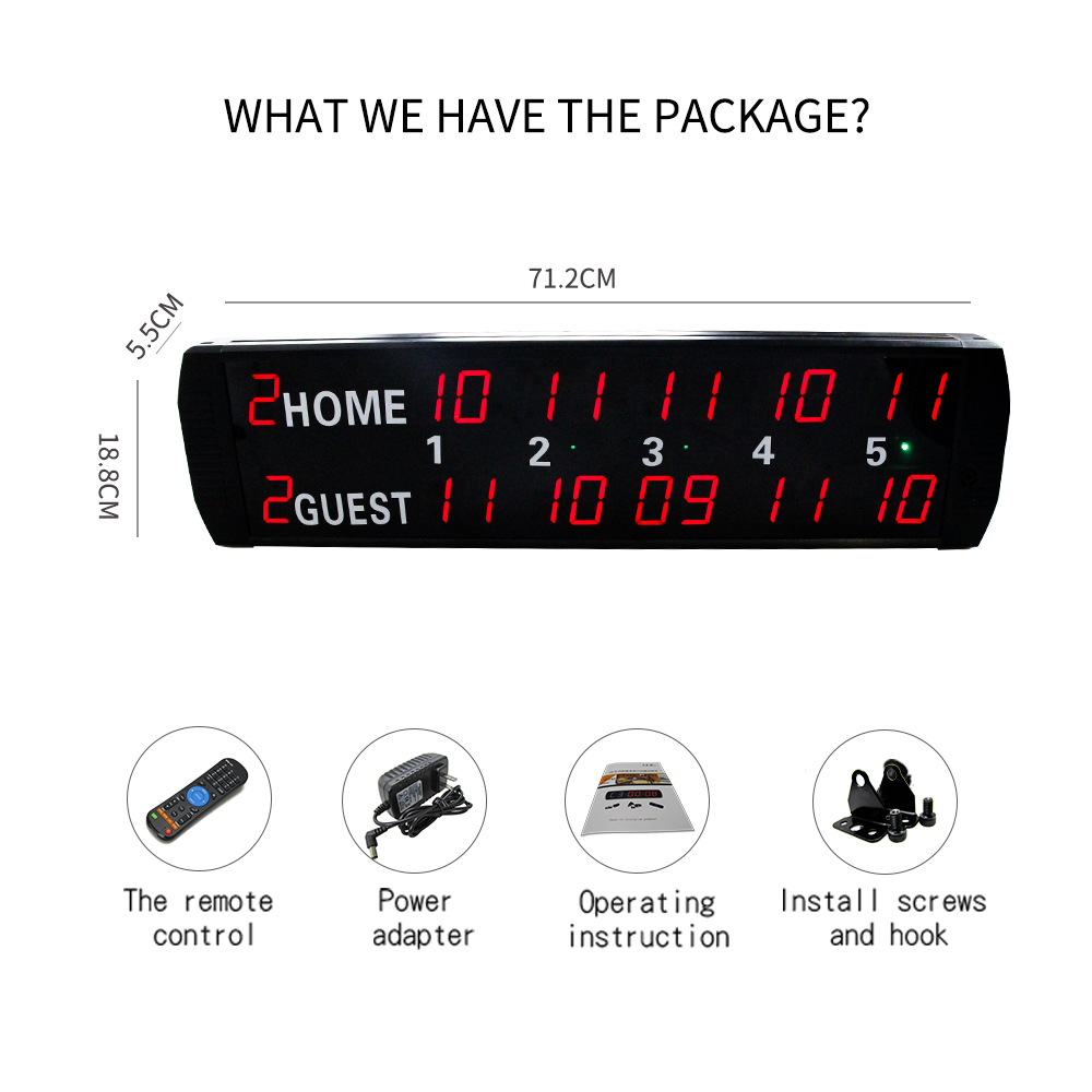 [Ganxin]Remote Control electronic Pingpang scoreboard used for table tennis ...