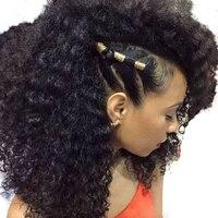 Плотность 130% афро курчавые Full Lace человеческих волос Парики Бразильский Реми предварительно сорвал с ребенком волос натуральный черный sunny