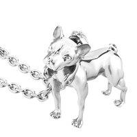2018 hund anhänger für Unisex edelstahl Französisch bulldog halsketten schmuck