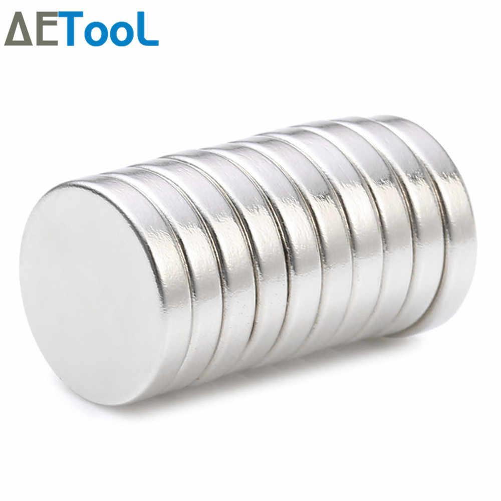 AETool 10 Pcs מיני קטן N42 מגנט 5x3 8x2 10x1 12x1 12x2 15x1 20x2mm Neodymium מגנט קבוע חזק במיוחד מגנטים רבי עוצמה