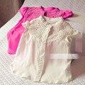 Дети в лето одежда девочка в вырез без рукавов рубашки