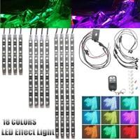 Mayitr 12pcs Motorcycle Flexible RGB 5050 SMD LED Strip Under Glow Neon Light Flashing Kit Voice