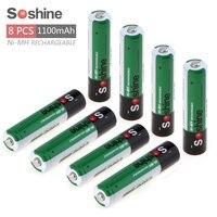 8pcs Soshine 1 2V AAA 1100mAh Ni Mh Rechargeable Battery With 1000 Cycle Portable Battery Box