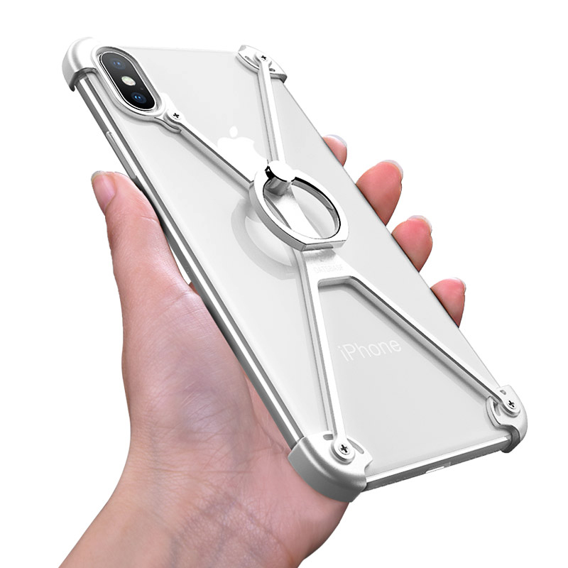 X Shape Design Case For IPhone XS MAX Case Aluminum 360 Degree Shockproof Anti-fall Bumper Mobile Phone Case For IPhone XS MAX