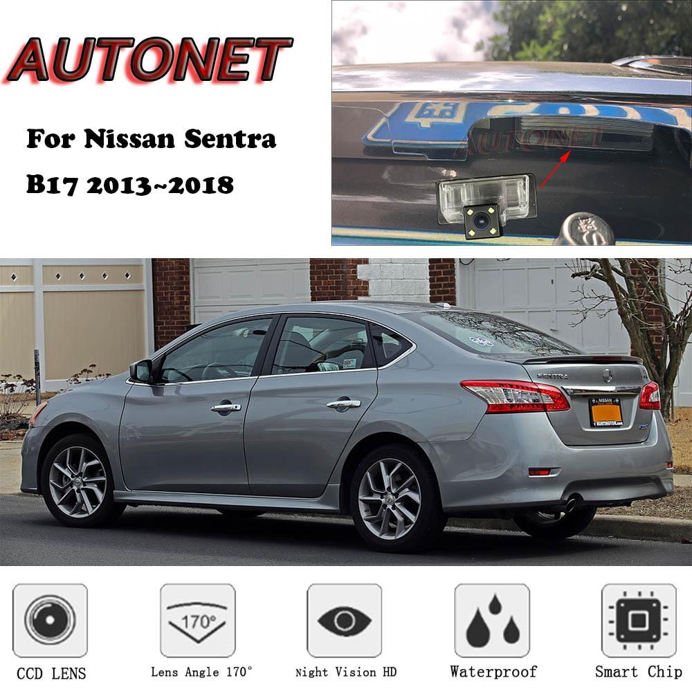 AUTONET Backup Rear View Camera For Nissan Sentra B17 Sedan 2013 2014 2015 2016 2017 2018  CCD/Night Vision/parking Camera