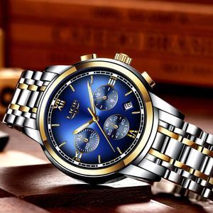 Image 2 - Montre Homme zegarek mężczyźni luksusowa marka LIGE Chronograph mężczyźni Sport zegarek wodoodporny pełna stal kwarcowy mężczyźni zegarki Relogio Masculino