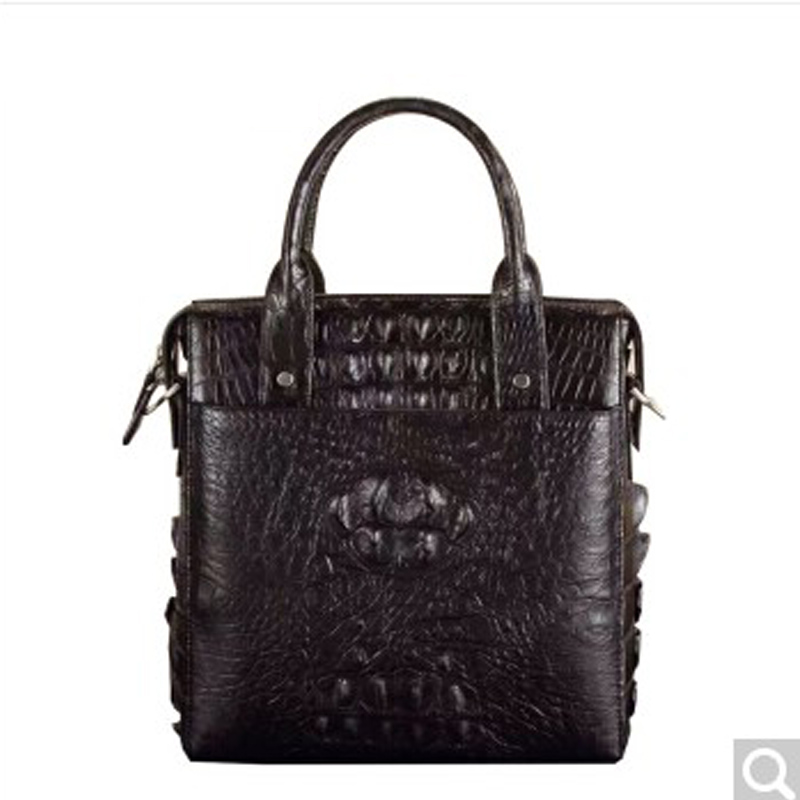 luolaini New Alligator leather men's handbag vertical leisure man single shoulder bag can be tilted across men handbag karen cvitkovich leading across new borders