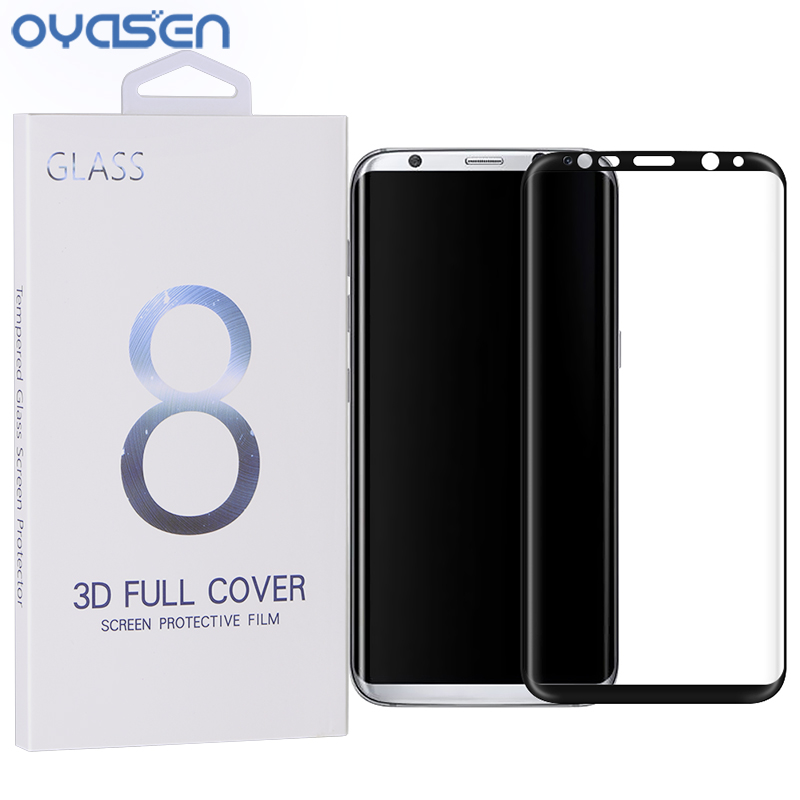 OYASEN Premium 3D Full Cover Tempered Glass for Samsung Galaxy S8 Screen Protector for Samsung Galaxy S8 Plus + Retail Package
