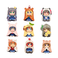 GSC Nendoroid 9pcs Set Japanese Anime Figure U M R Cute Nendoroid Doma Umaru PVC Action
