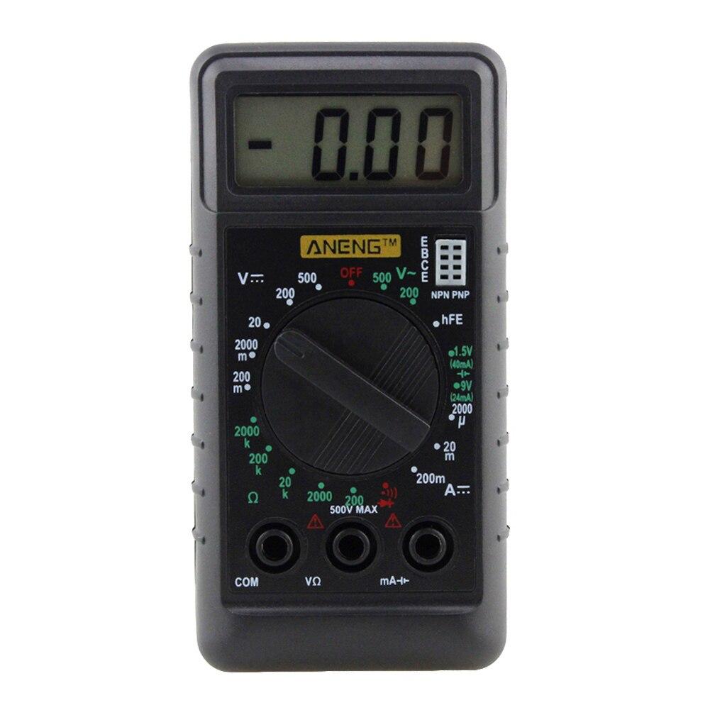 Hand Held Ohmmeter : Handheld mini pocket dmm digital multimeter volt amp ohm