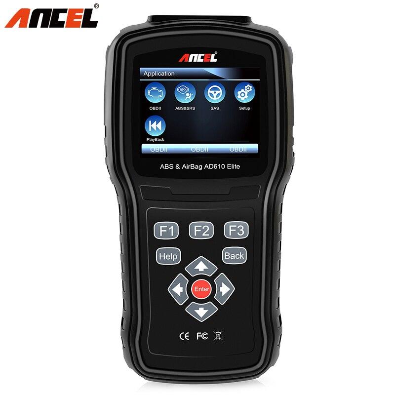 ANCEL AD610 Elite Scanner OBDII ABS SAS SRS Strumento Diagnostico in Tedesco