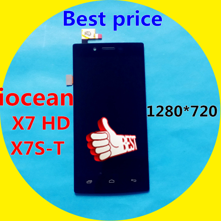 In Stock!!! LCD Display + Digitizer Touch Screen Assembly For Iocean X7 HD X7S-T 1280*720 Without Frame Free Shipping