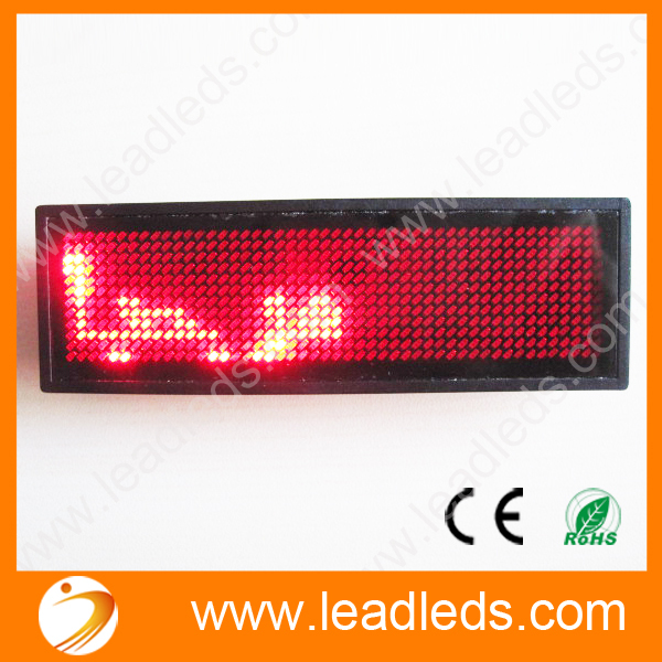 5 X Free Red Led Scrolling Message Name Badge For Thai Arabic Russian Etc World Language