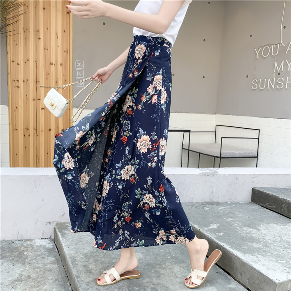 Spring and Summer new style new fashion Beach skirt holiday skirt One piece wrap skirt chiffon floral skirt in Skirts from Women 39 s Clothing