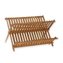 OUNONA bambú plegable plato secado Rack titular utensilio escurridor  almacenamiento titular placa de madera cubiertos estante pa. a3dcd28ebdf7