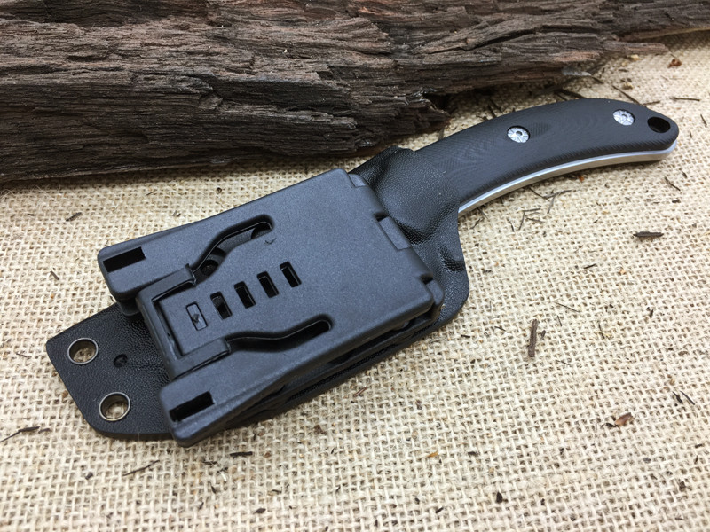 Buy Fine 100% New Tops SGT SCORPION D2 Blade Hunting Fixed Knives G10 Handle Camping Straight Knife Tactical K Sheath cheap