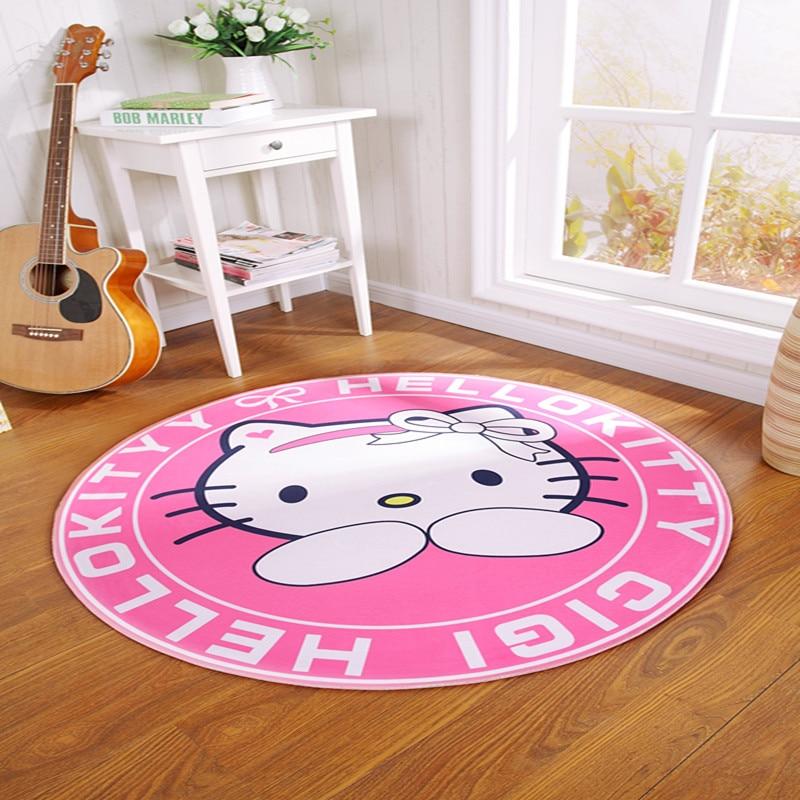 Hello Kitty Home Decor: Home Decor Cute Pink Hellow Kitty Cartoon Carpet Round