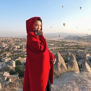 Image 5 - Mingjiebihuo プラスサイズ気質女性高品質ニット快適 warm 厚いスカーフ女性タッセルセレブスタイルポンチョ
