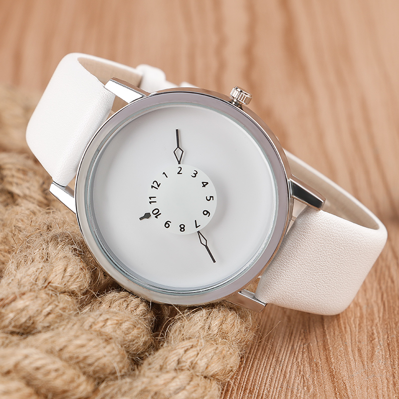 Творческий Кожа Часы Мужчины Женщины Платье Часы Часовой Моды для Мужчин Вскользь Unisex Кварцевые Наручные Часы relogio relojes