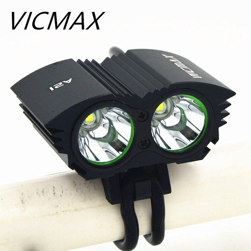 Vicmax светодиодный фонарик xm-l T6 светодиодный свет велосипеда лампы спереди головной  ...