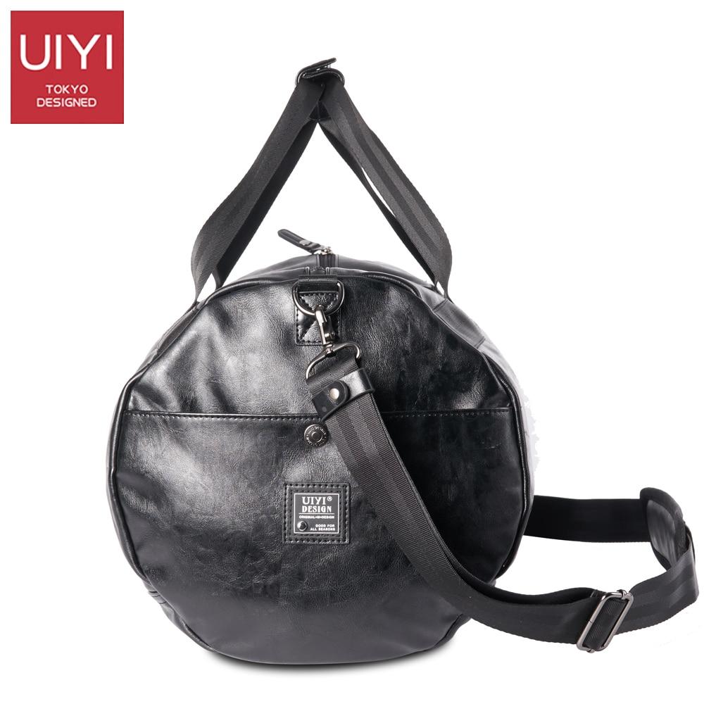 UIYI Men Soft PVC Travel Bag Classic High-Capacity handbag For Men Waterproof Shoulder Bags Luggage Travel Duffle # UYS7032 4