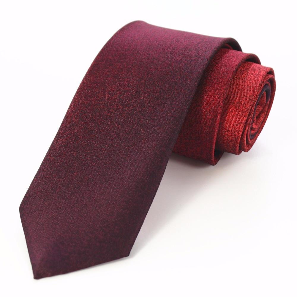GUSLESON Fashion Men Quality Slim Tie 6cm Skinny Narrow Gravata Red Gray Gradient Color Neckties For Men Wedding Party Groom